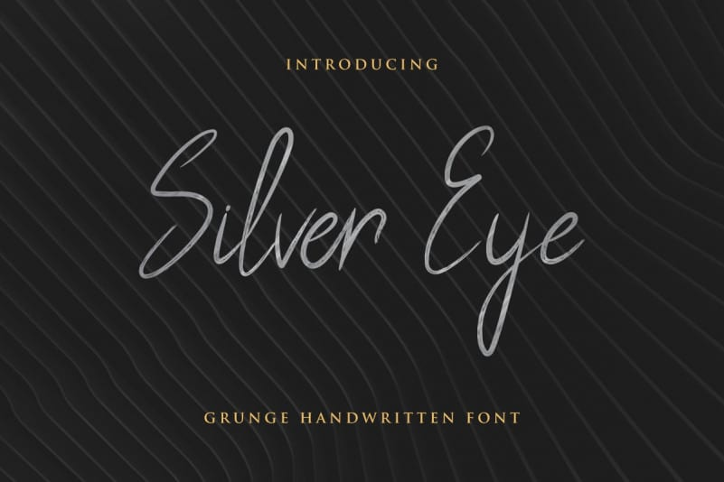 Silver Eye Handwritten Font