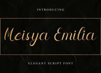 Meisya Emilia Calligraphy Font