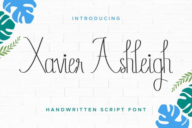 Xavier Ashleigh Calligraphy Font