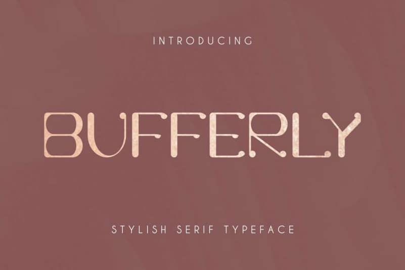 Bufferly Serif Font