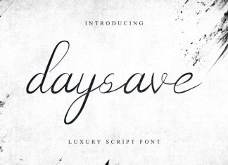 Daysave Calligraphy Font