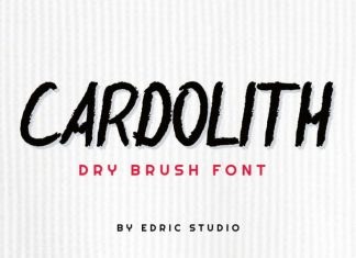 Cardolith Rough Brush Font