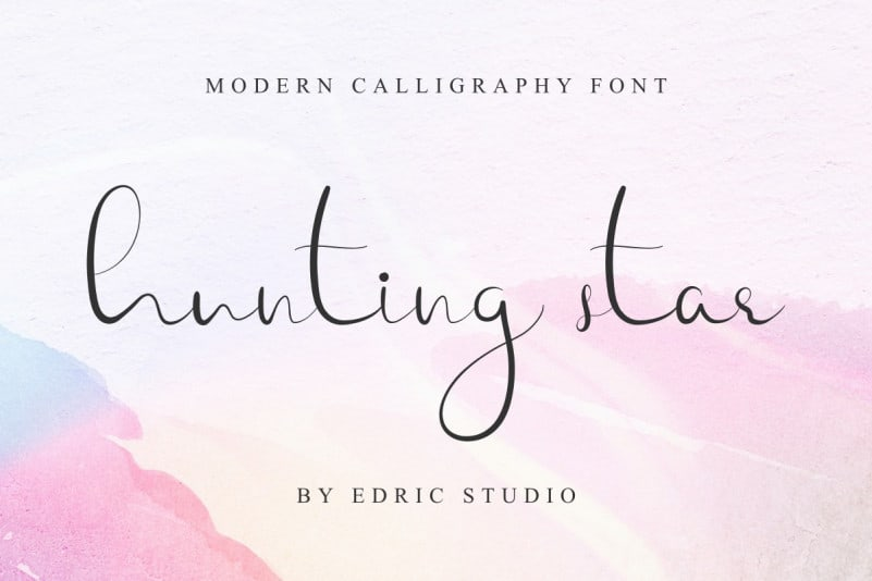 Hunting Star Calligraphy Font