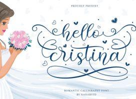 Hello Cristina Calligraphy Font