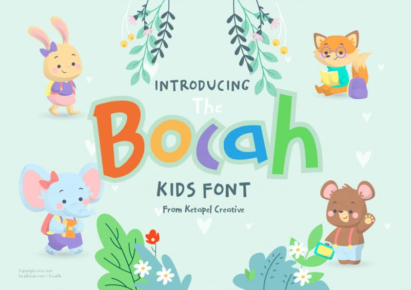 The Bocah Handwritten Font