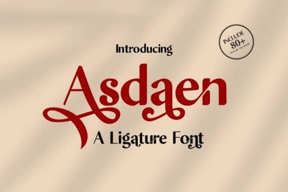 Asdaen Serif Font