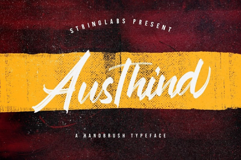 Austhind Brush Font