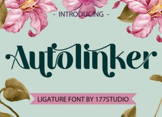 Autolinker – Fancy Ligature Font