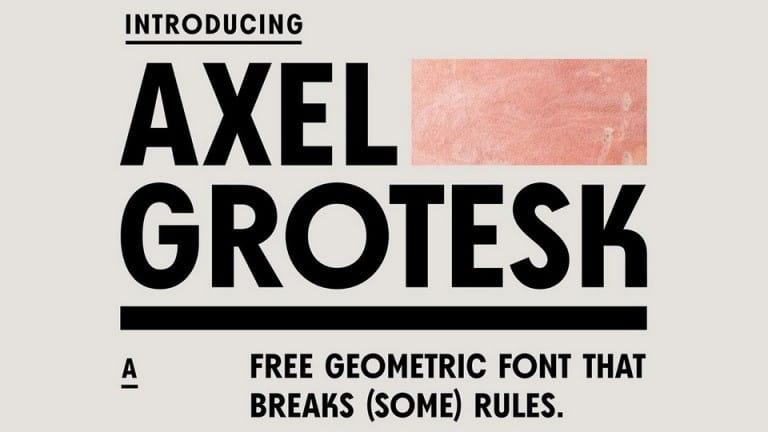 Axel Grotesk Sans Serif Font
