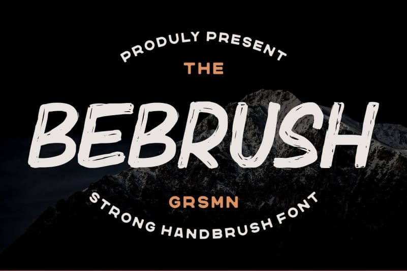 Bebrush Brush Font