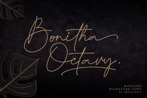 Bonitha Octavy Handwritten Font