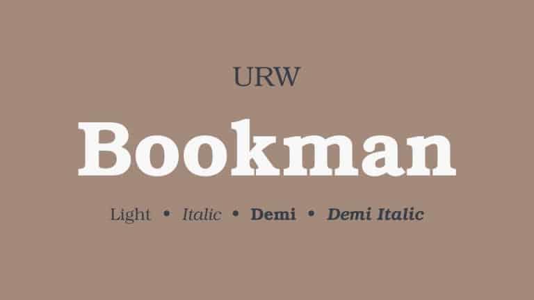 Bookman Slab Serif Font