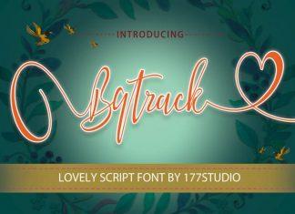 Bqtrack Calligraphy Script Font