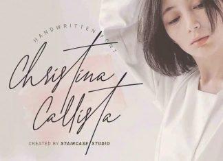 Christina Callista Handwritten Font