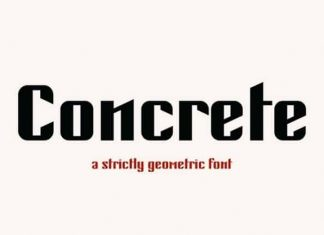 Concrete Display Font