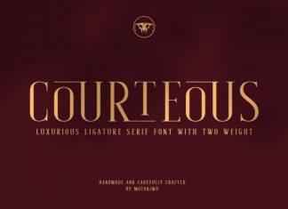 Courteous Serif Font