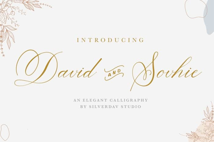 David And Sovhie Calligraphy Font