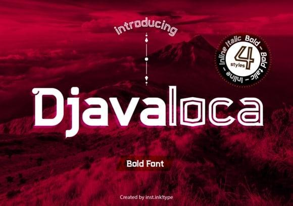 Djavaloca Display Font