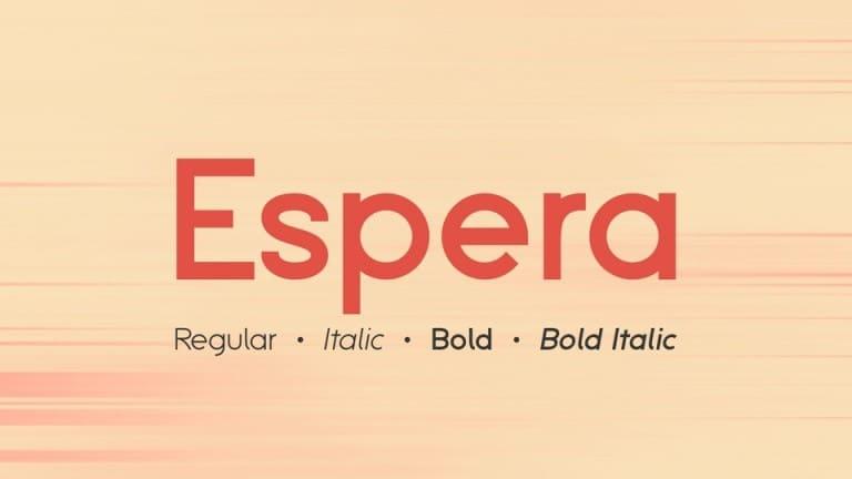 Espera Sans Serif Font