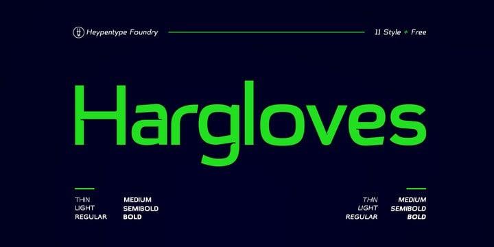 Hargloves Sans Serif Font