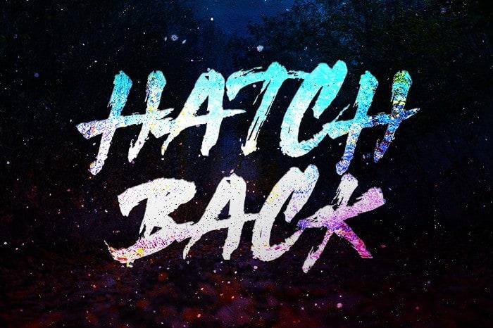 Hatchback Brush Font