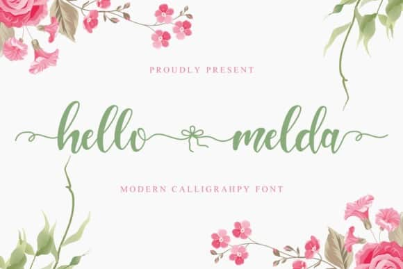 Hello Melda Calligraphy Font