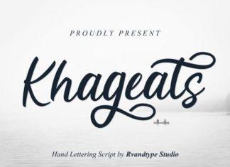 Khageats Calligraphy Font