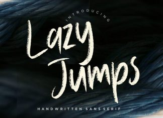 Lazy Jumps Brush Font