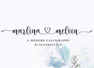 Marlina Melvin Calligraphy Font