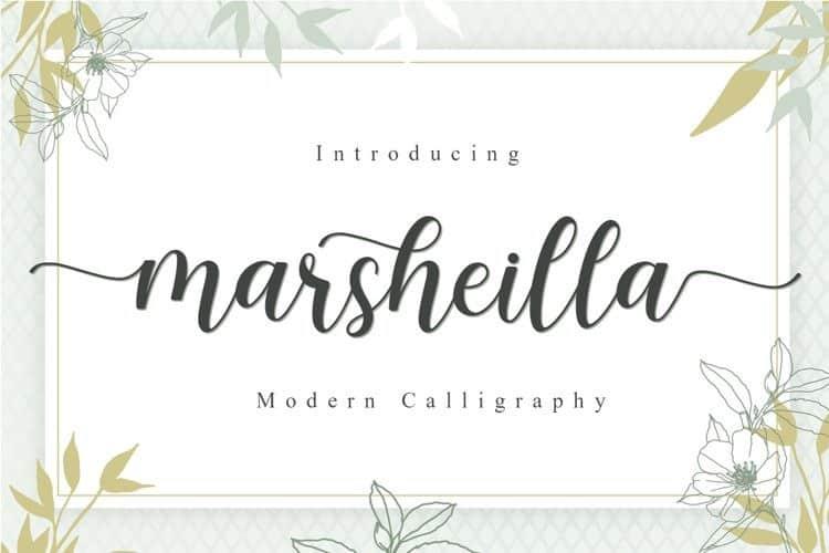 Marsheilla Calligraphy Font