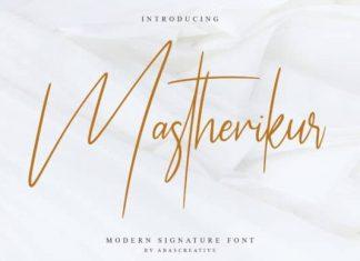 Mastherikur Handwritten Font
