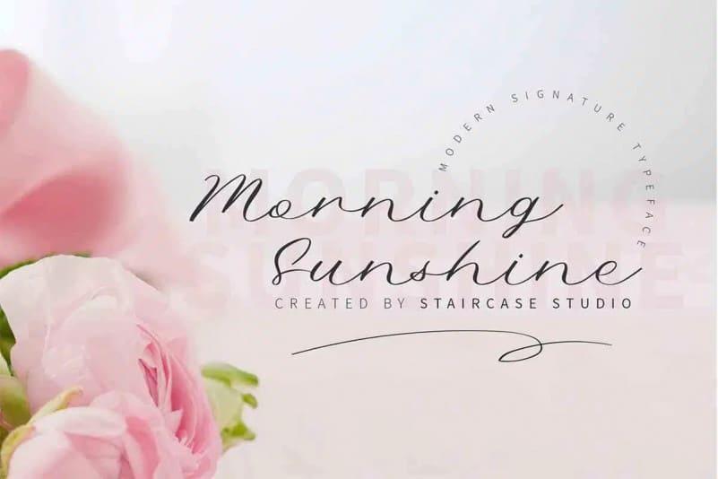 Morning Sunshine Script Font