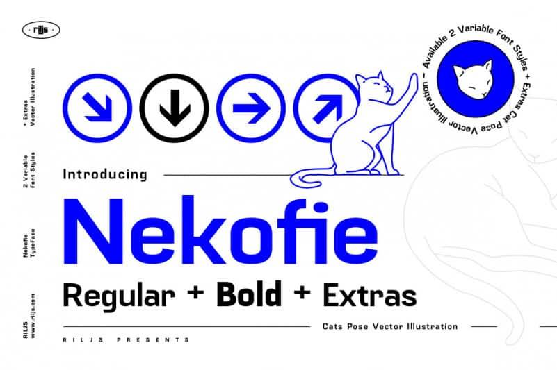 Nekofie Font Family + Extras