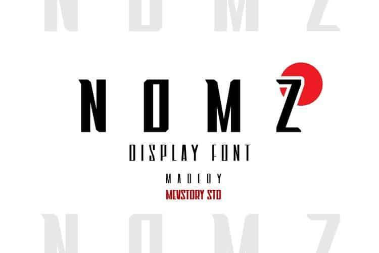 Nomz Display Font