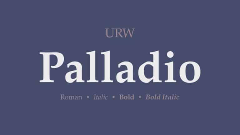 Palladio Serif Font