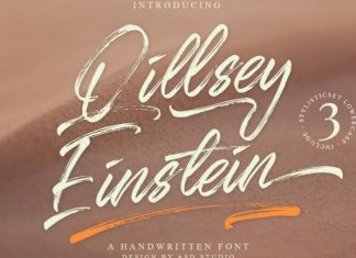 Qillsey Einstein Brush Font