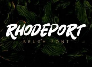 Rhodeport Brush Font