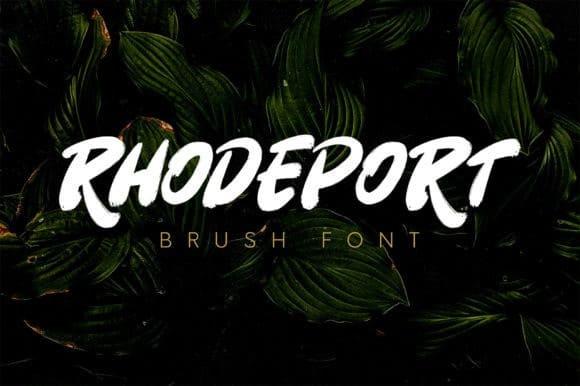 Rhodeport Brush Font