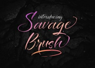 Savage Brush Font