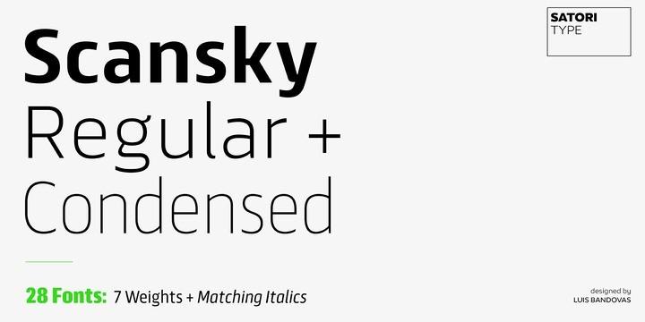 Scansky Sans Serif Font