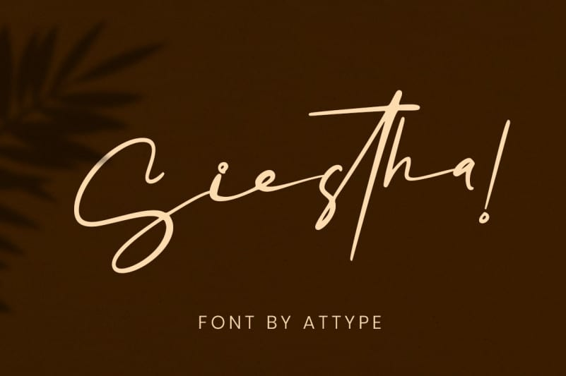 Siestha Handwritten Font