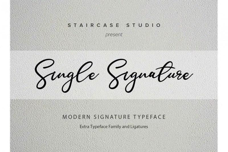 Single Handwritten Font