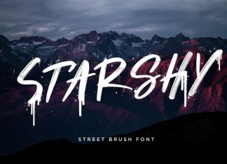 Starshy Brush Font