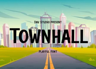 Townhall Display Font