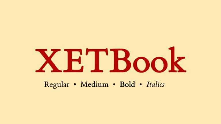 XETBook Serif Font