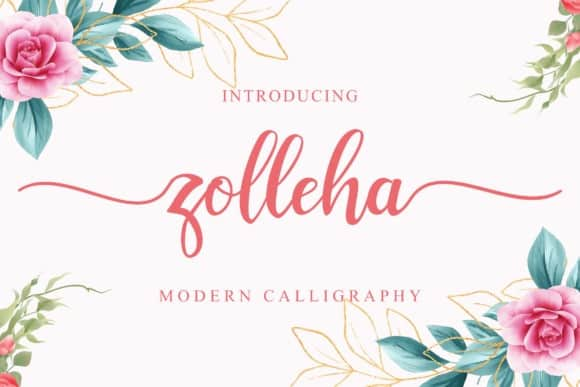 Zolleha Calligraphy Font
