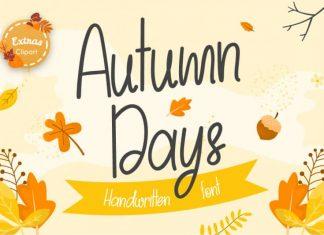 Autumn Days Handwritten Font