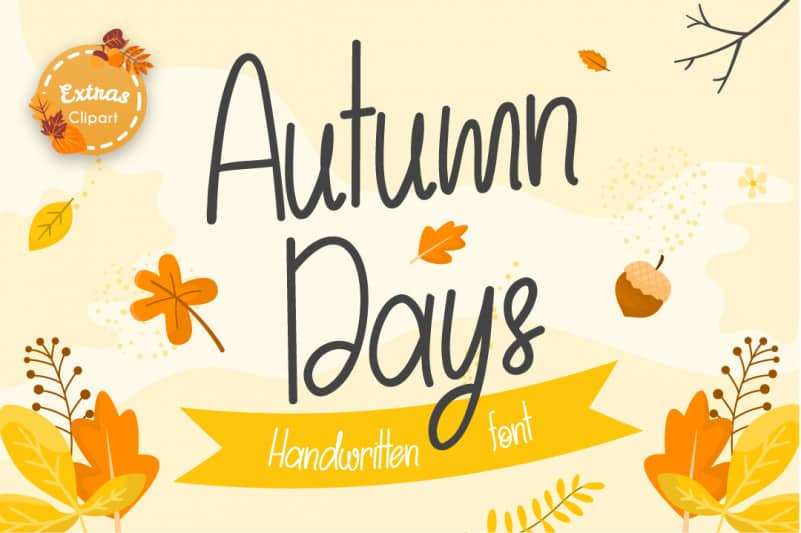 Autumn Days Handwritten Font