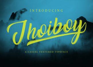 Jhoiboy Brush Font