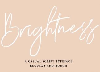 Brightness Script Font